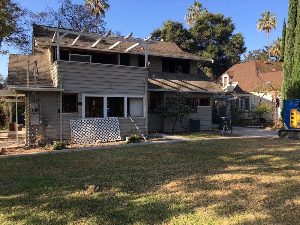 Great Crafstman home in Pasadena.  Original structure since 1901.  Selective demo and Excavation for a new basement.  Foundation and framing work for 2,500 sq feet of a new basement, lst and 2nd floors new addition work.