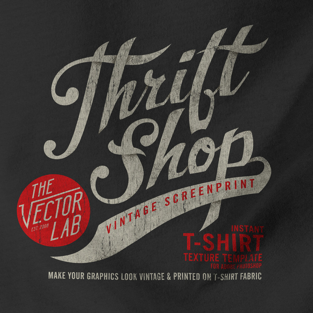 Thrift Shop Vintage T-Shirt Texture Template