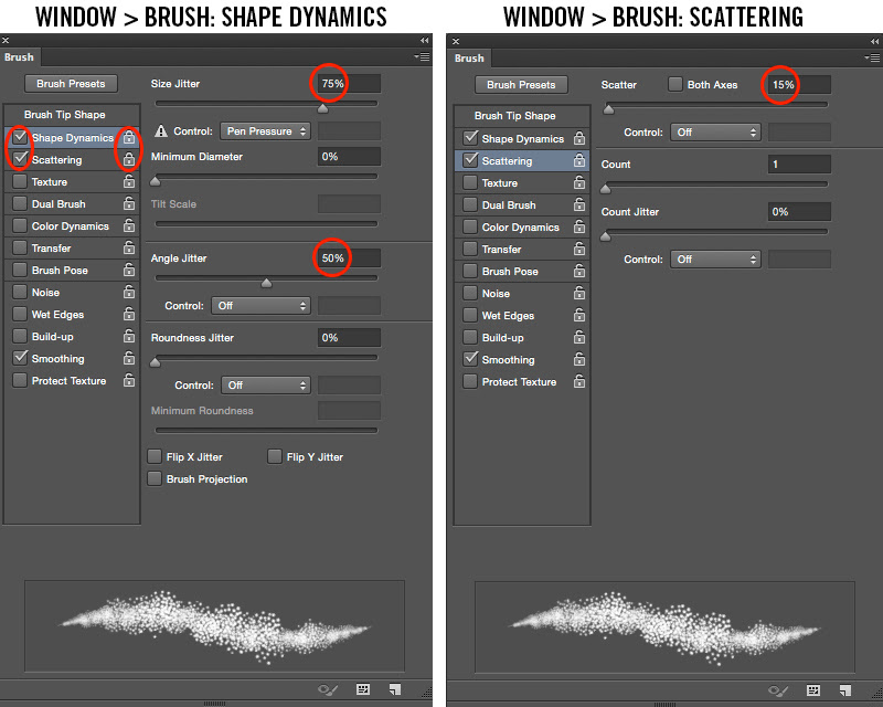 Photoshop Brush Settings
