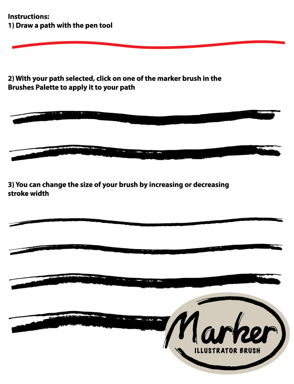 Adobe Illustrator Marker Brush Instructions