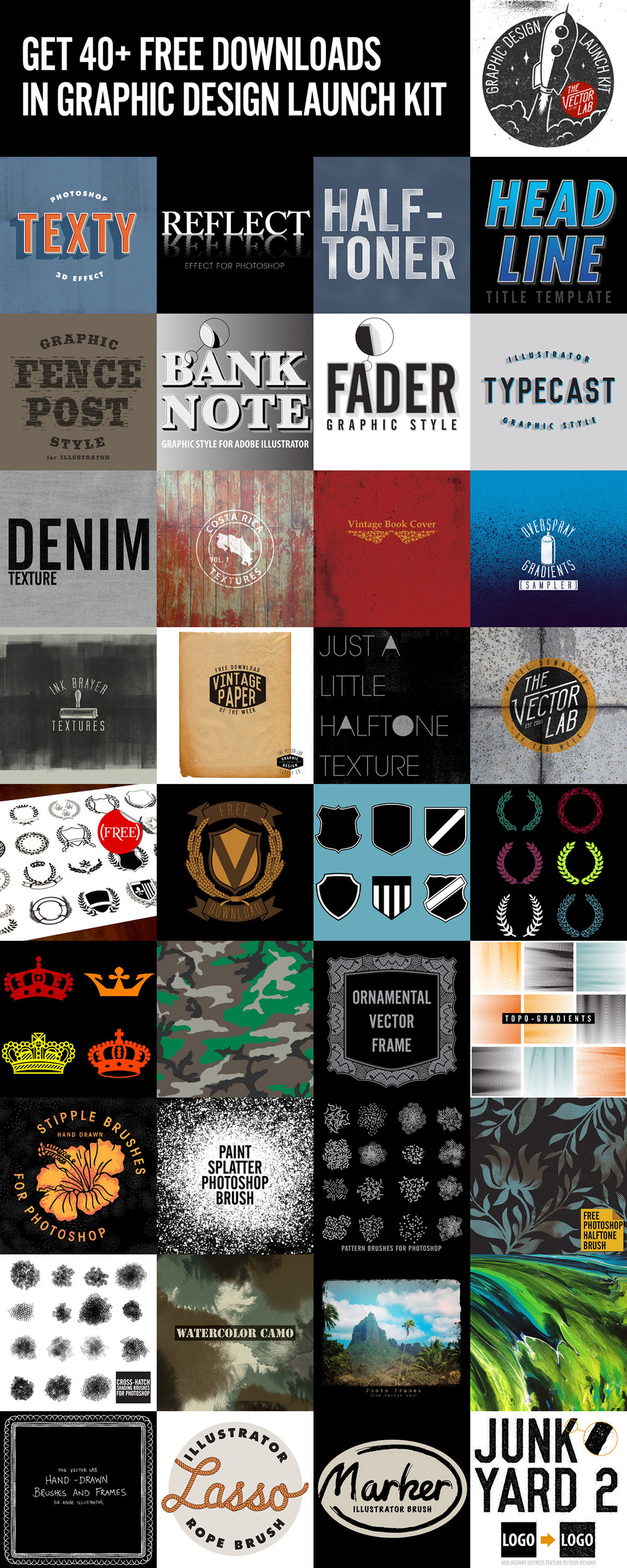 Graphic Design Launch Kit - Get 40+ Free Downloads