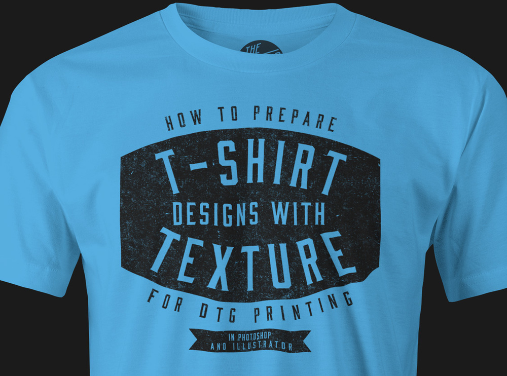 T-Shirt Design with Texture for DTG Printing