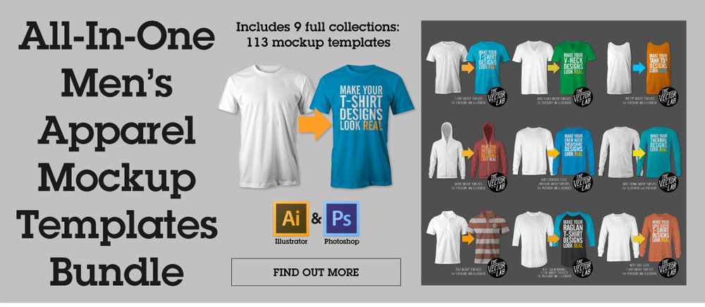 All-In-One Men's Apparel Mockup Templates Bundle