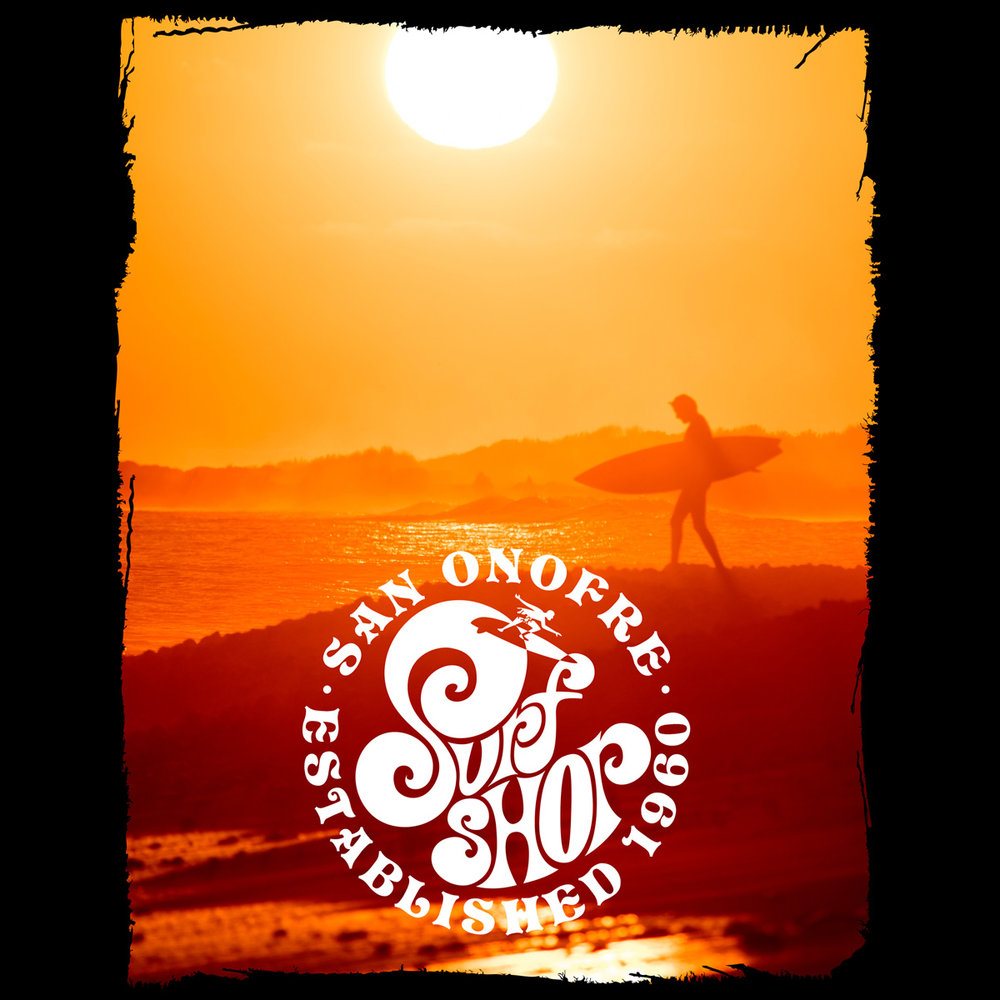 San Onofre Surf Shop - Distressed Border Automator for Photoshop