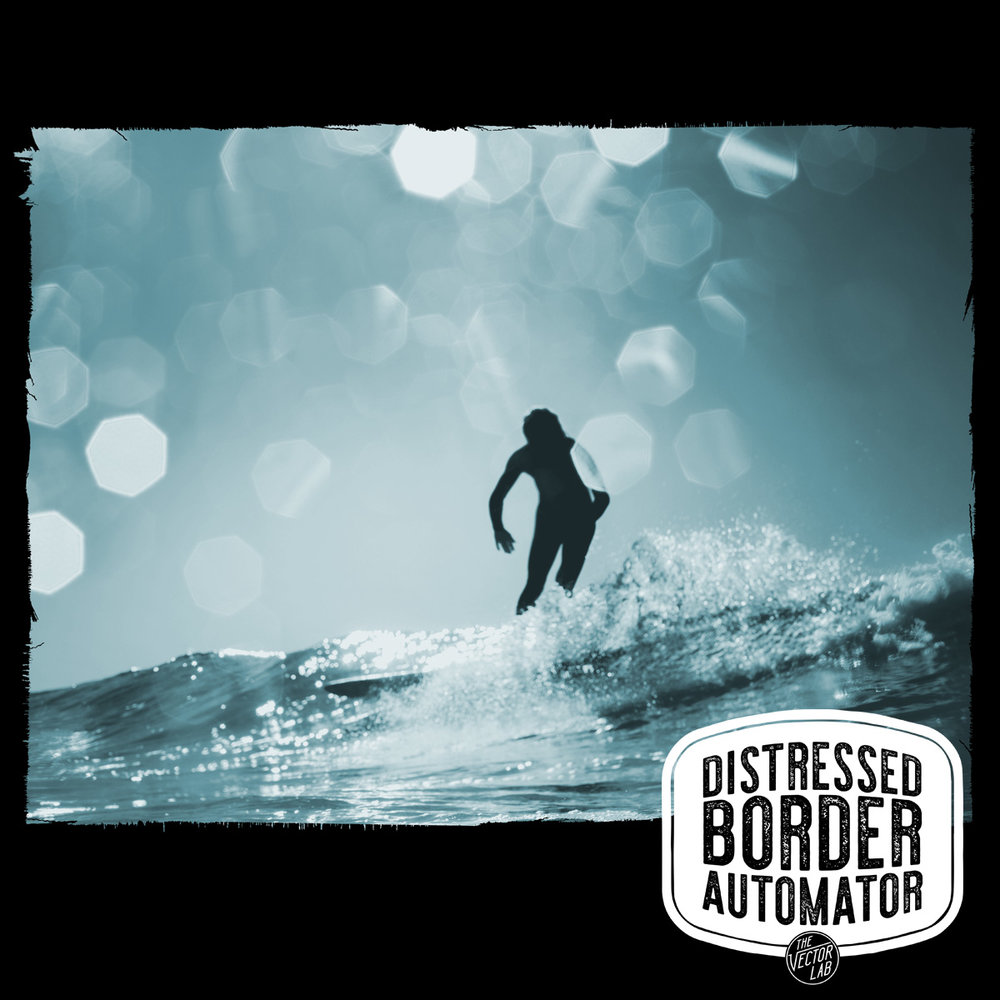 Surfing - Distressed Border Automator for Photoshop