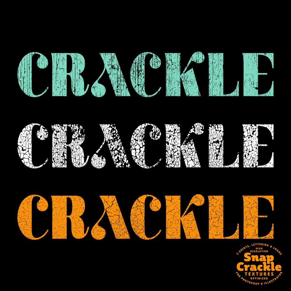 Snap Crackle - Cracked Paint Textures for Photoshop and Illustrator