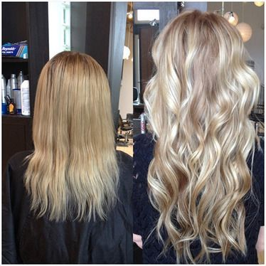 Hair extensions gillian at alize salon keratape tape in hair extensions before after pmusecretfo Image collections