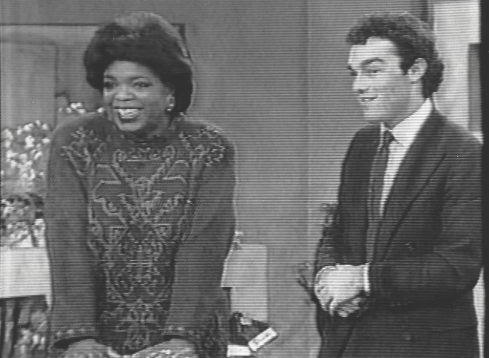 I had crippling stage fright.  Oprah held my hand between segments.  I never had stage fright again.  That's also when the hair loss started.