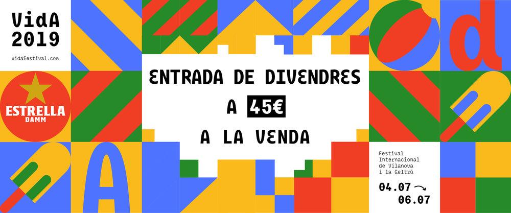 COMPRA AQUÍ LA TEVA ENTRADA DE DIVENDRES!