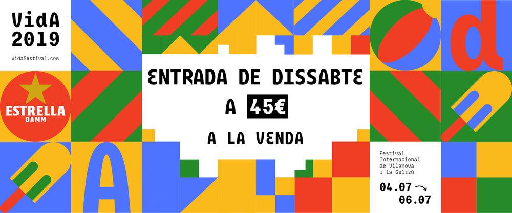 COMPRA AQUÍ LA TEVA ENTRADA DE DISSABTE!