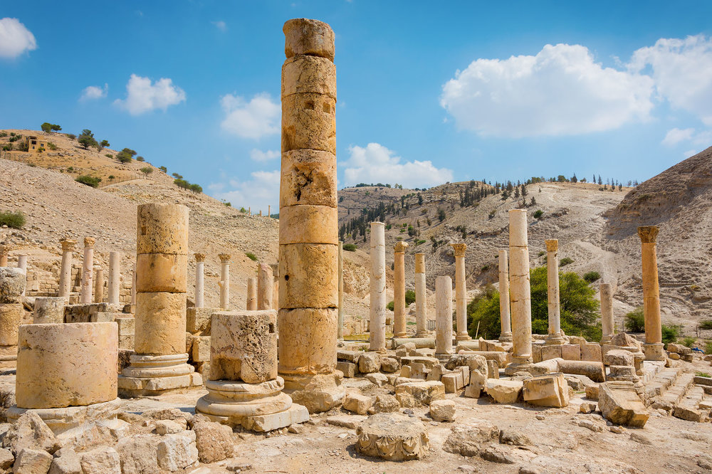 Ancient ruins of Pella, Jordan. Courtesy of 123rf.com