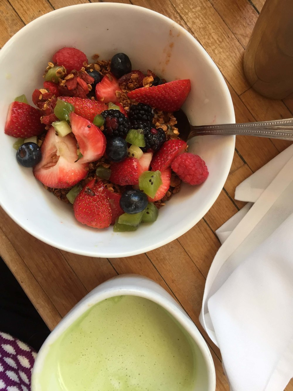 Butchers Daughter Granola and Matcha