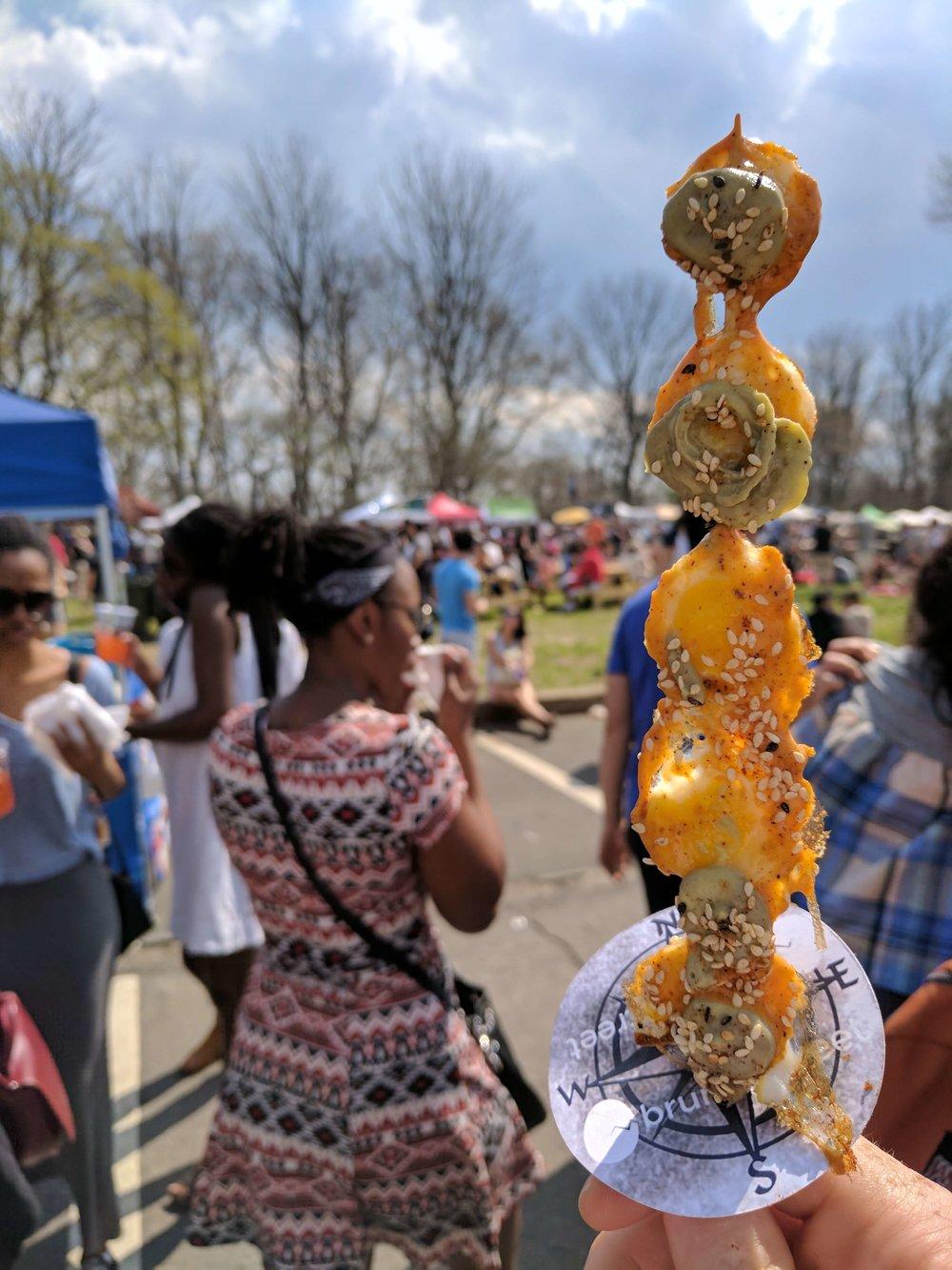 Egg on a stick Prospect Park