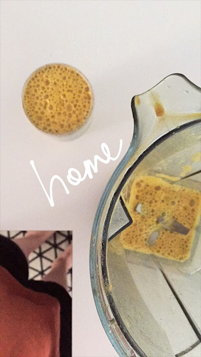 Home Frothed Coffee with Turmeric