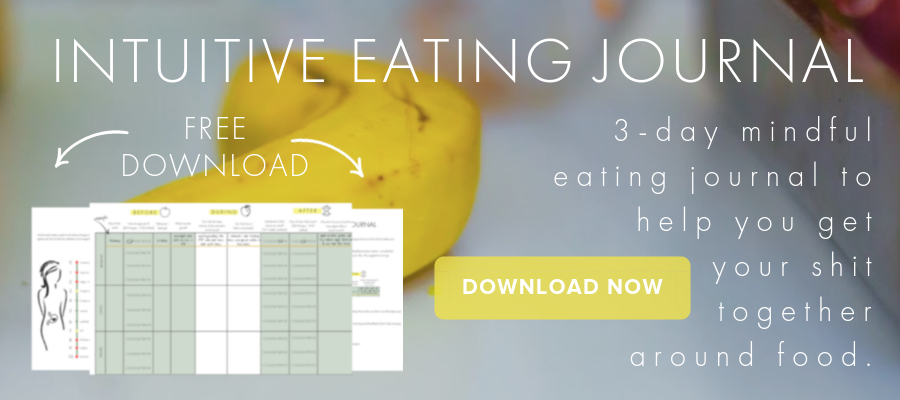 Intuitive Eating Journal