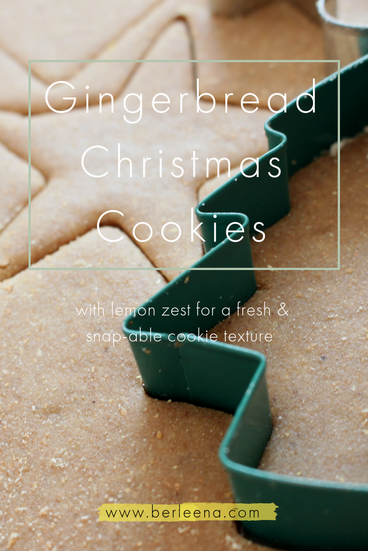 Christmas Gingerbread Cookies with lemon zest