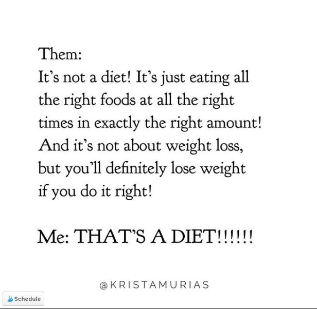 That's a diet @kristamuria