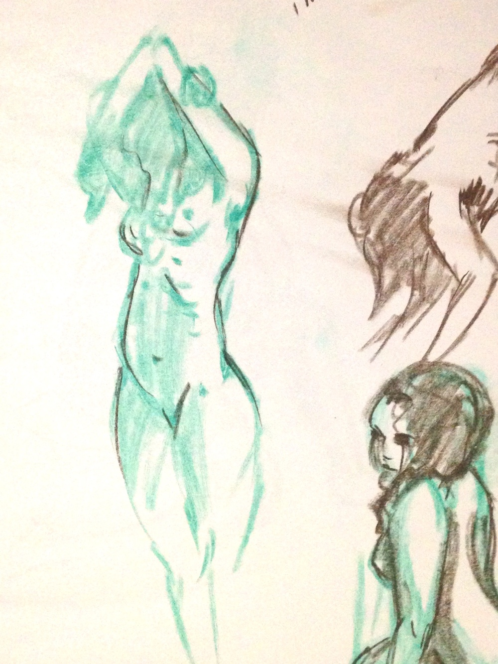 Life drawing: 1 Minute poses