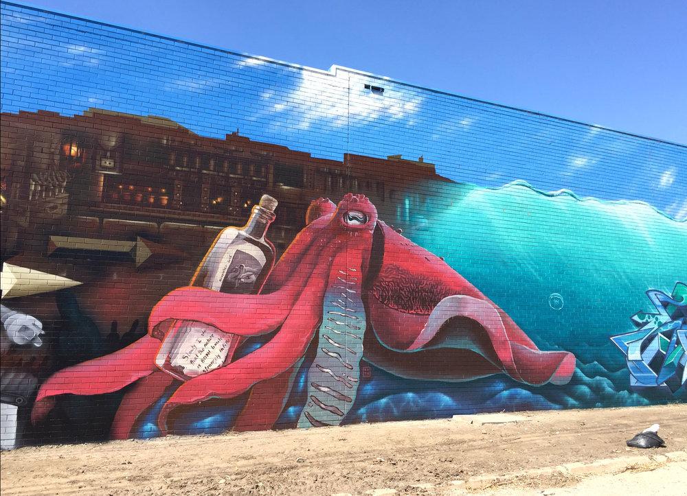 Júlia BOTH | Mural for O-I Glass, Melbourne.