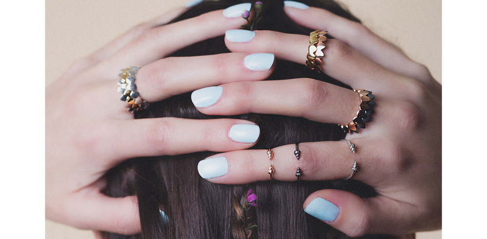shell midi rings Daniel Darby jewellery