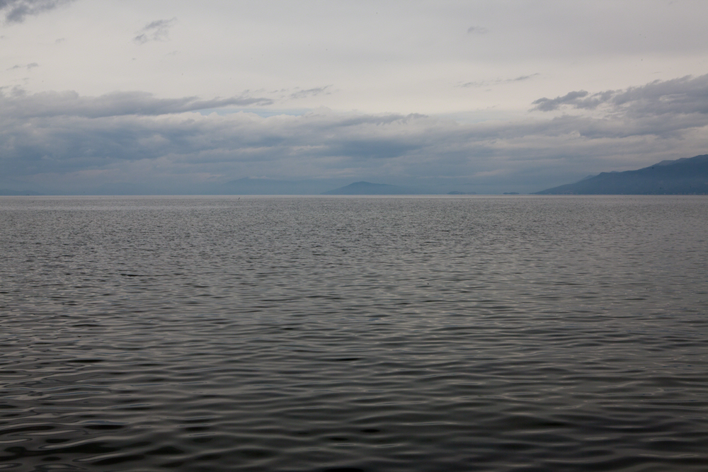 Pogradec, Ohrid Lake, the view from Tushemisht © alketa misja photography