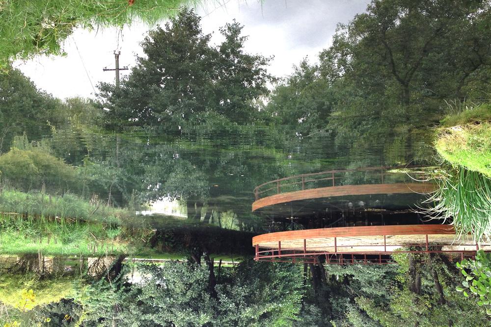 upside-down water reflections,Drilon Park, © alketa misja photography