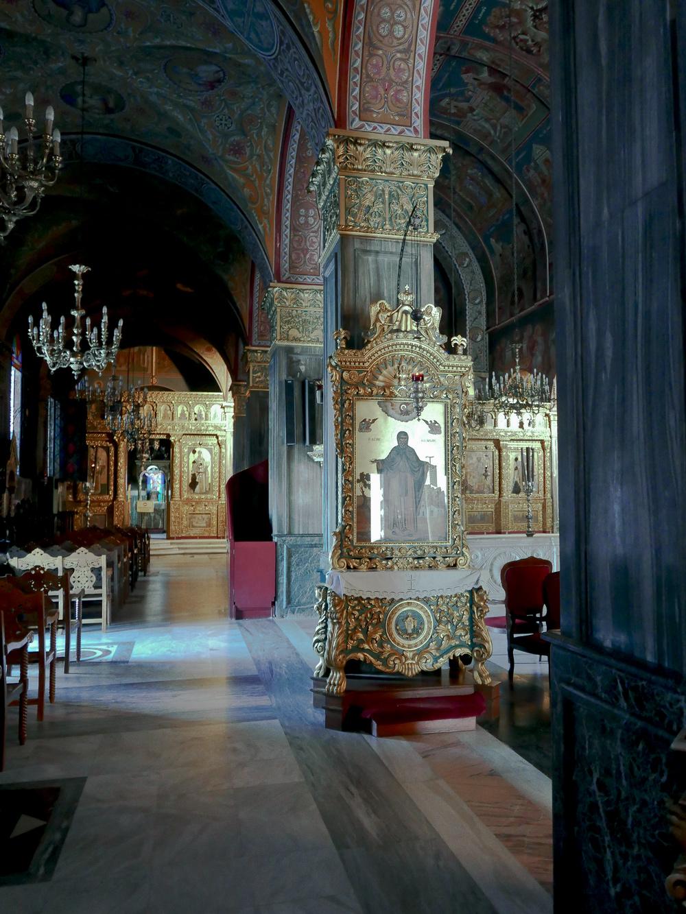 Interior of Saint Dionysios Cathedral, Zakynthos Greece 2015, © alketamisja photography
