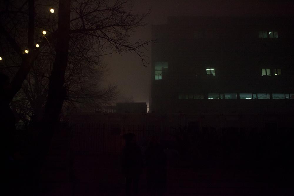 City fragment, downtown area, Prishtina by Night, alketamisja photography, december 2015