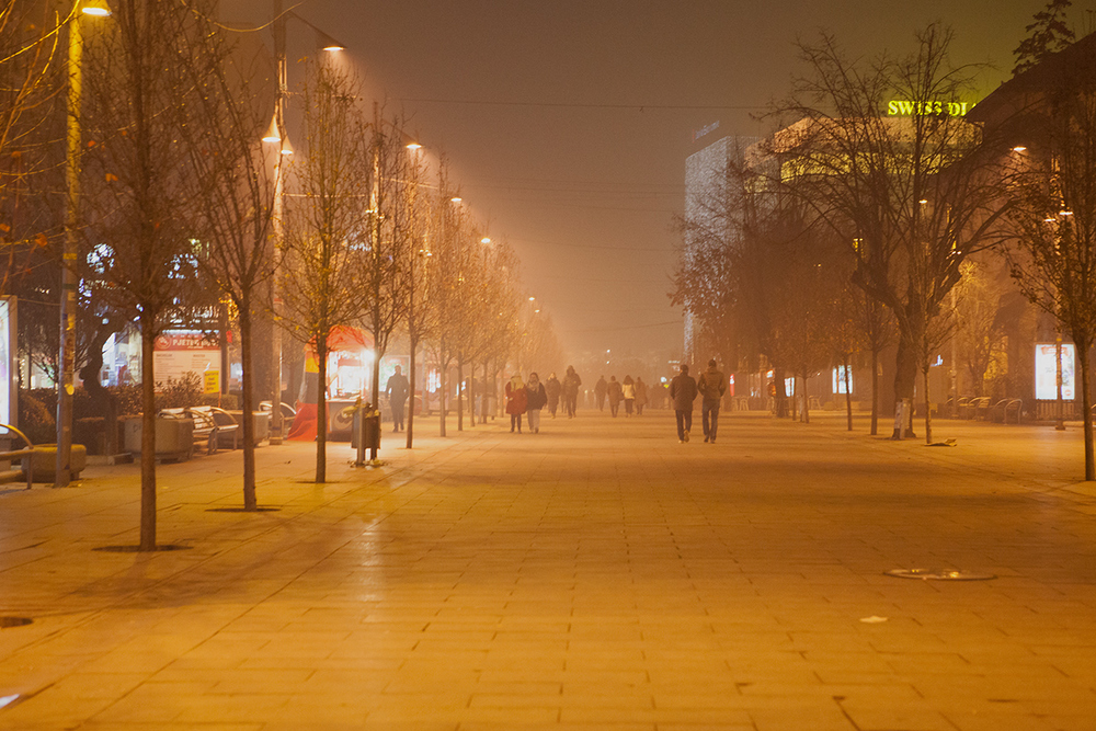 Prishtina by Night, alketamisja photography, december 2015