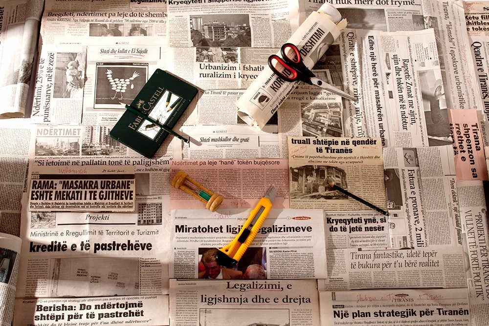 """""""Untitled"""", Still Life with Newspapers 2012"""