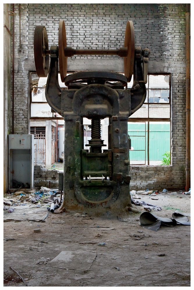 Abandoned Press machinery