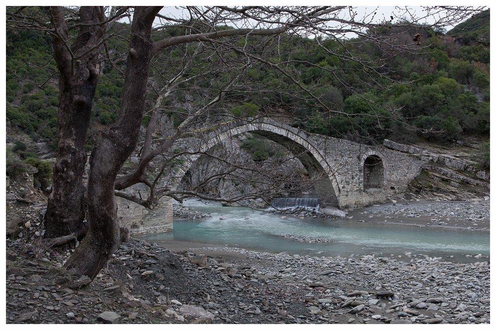 Langarica River and Katiu Bridge, Benje Permet Albania