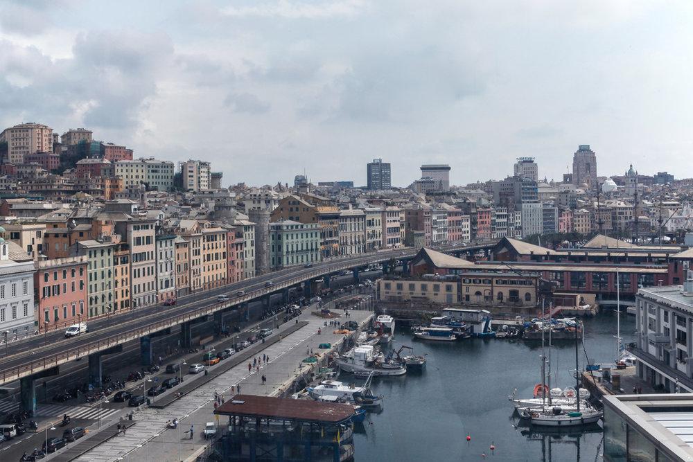 Genoa seen from Museum of Sea, alketamisja photography 2016