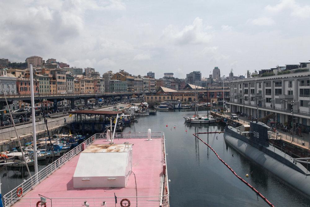 Darsena seen from Museo del Mare, Genoa, alketamisja photography 2016