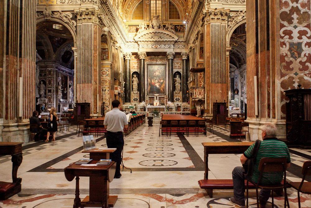 Chiesa del Gesù, Genoa Italy, alketamisja photography, 2016