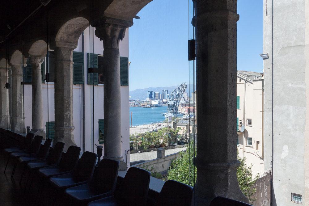 The view of port from Monastery San Maria di Castello, Genoa Italy, alketamisja photography 2016