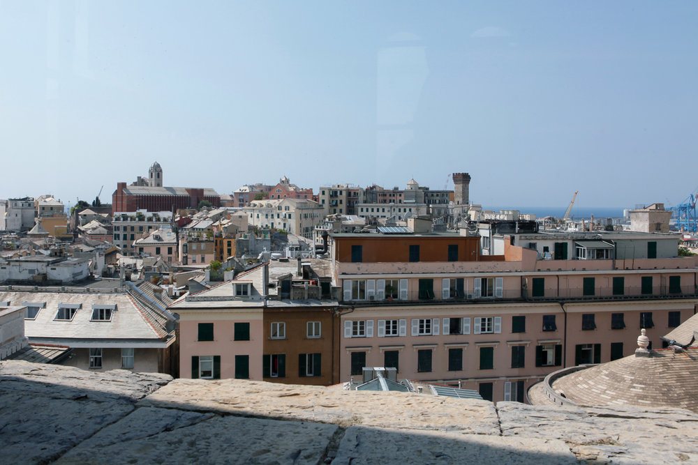 The view  from Torre Grimaldina, Palazzo Ducale, Genoa Italy, alketamisja photography 2016