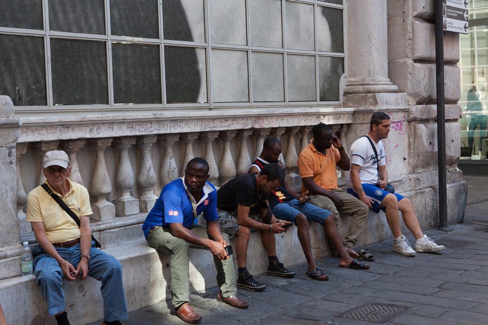 In front of Loggia dei Mercanti, Piazza Banchi, Genoa Italy, alketamisja photography 2016