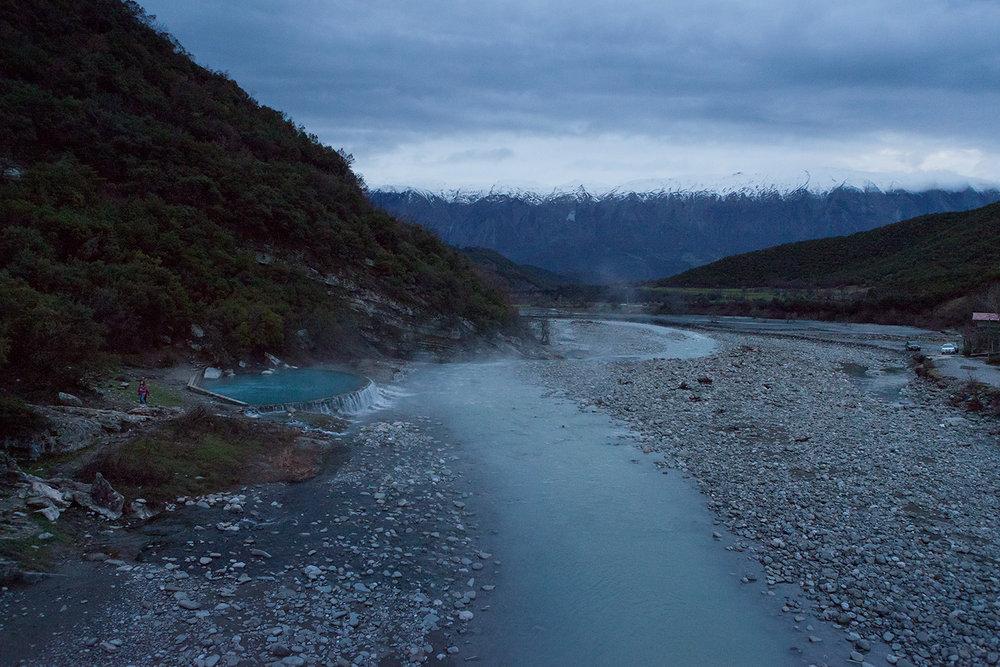 Langarica river and Thermal Waters of Benje Permet, march 2016