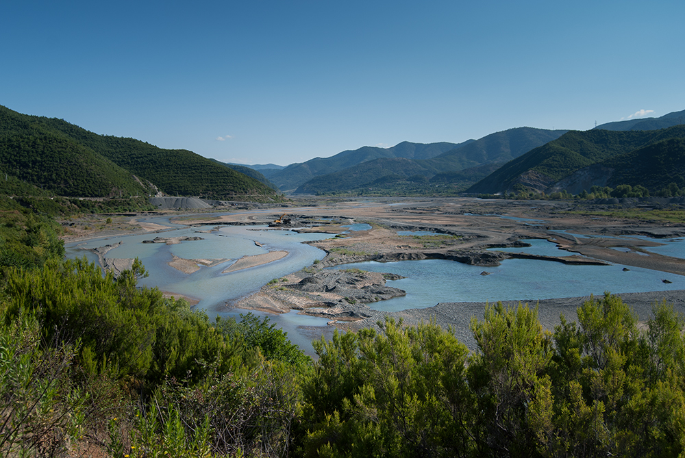 "Fan River Valley, Mirditë, along which id built ""Rruga e Kombit"" © alketa misja photography 2008"