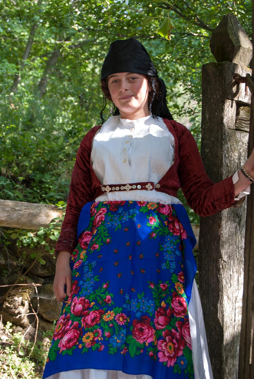 Portrait of a Girl in traditional costume, Orosh Mirditë, © alketa misja photography 2008