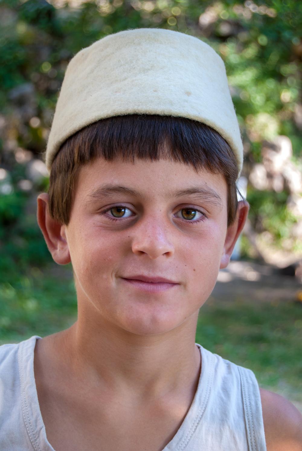 Portrait of a Boy in traditional costume, Orosh Mirditë, © alketa misja photography 2008