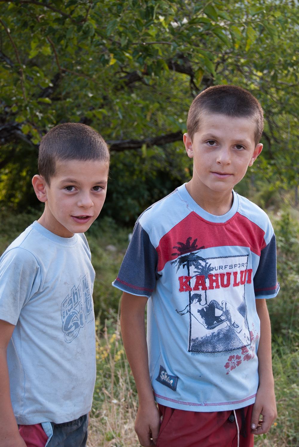Portrait of two Boys, Orosh Mirditë, © alketa misja photography 2008