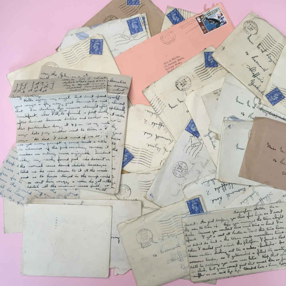 Some of the beautiful letters from Anne's Grandfather to her Grandmother. Follow Anne's shop here - Instagram @cocoa_wonderland