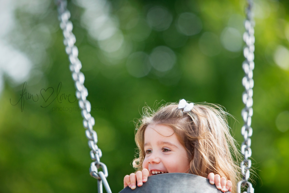 Girl in Swing Natural Childrens Photography