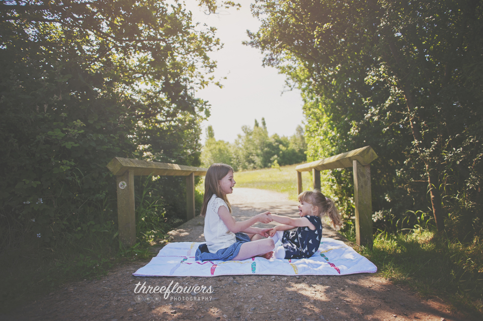 Three Flowers Photography Essex Lifestyle Photographer Summer Sisters Portrait