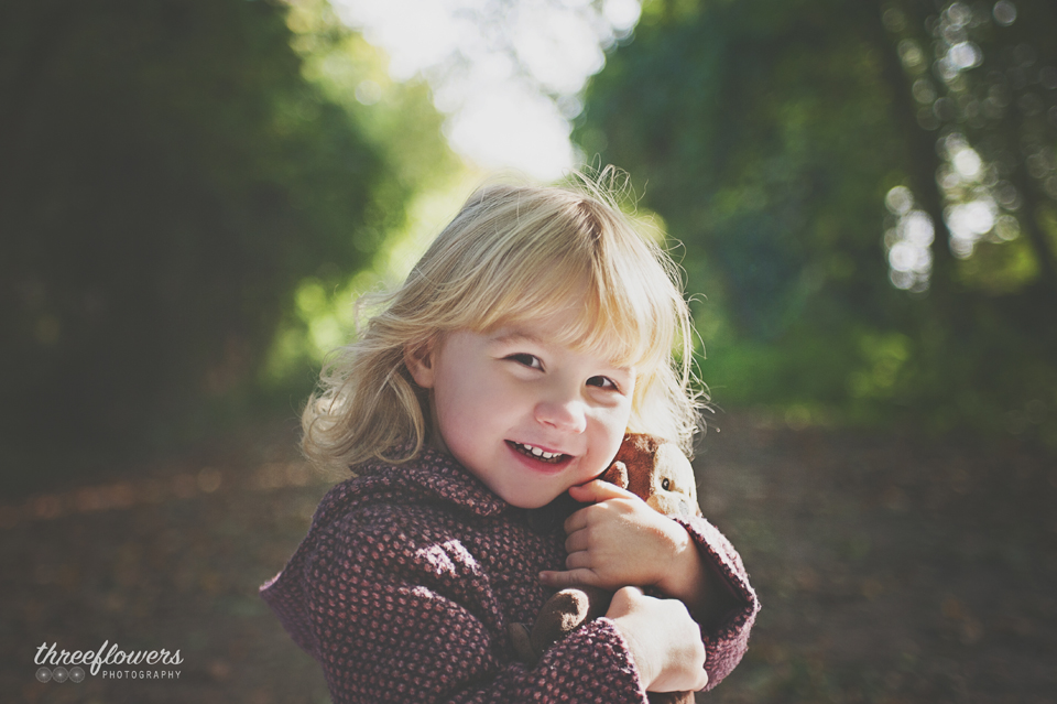 Three Flowers Photography Essex Lifestyle Photographer Pre School Autumn Portrait Teddy