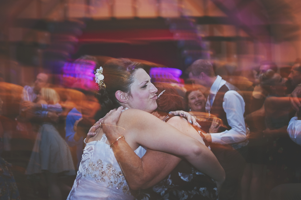 Three Flowers Photography Essex Weddings Bride on the Dance Floor Long Exposure