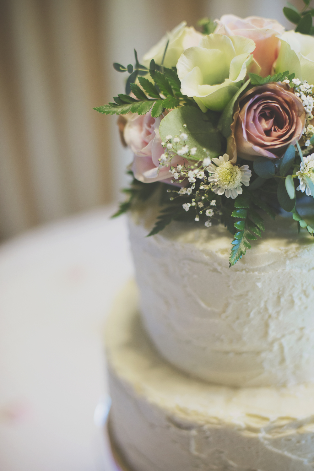 Three Flowers Photography Barn Brasserie Essex Wedding Rustic Cake