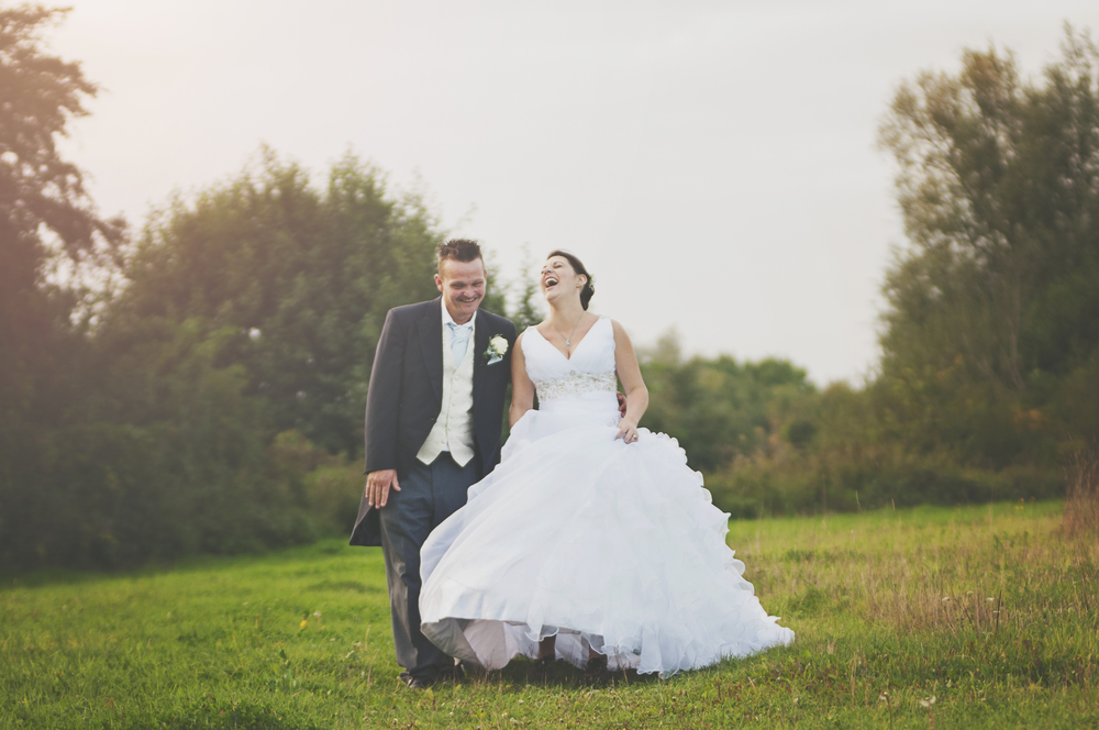 Three Flowers Photography Essex Wedding Bride Groom Golden Hour Portrait